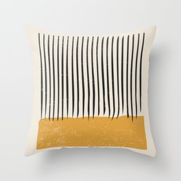 Mid Century Modern Minimalist Rothko Inspired Color Field With Lines Geometric Style Throw Pillow
