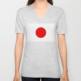 Pandas JPN Flag Design Unisex V-Neck