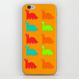 Cute Dino Pattern Walking Dinosaurs iPhone Skin