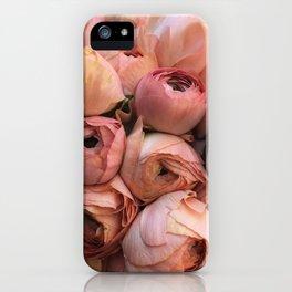 Coral ranunculus iPhone Case