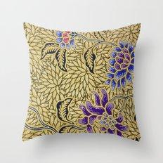 Traditional Art Batik Pattern Throw Pillow