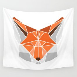 Polygonal fox portrait Wall Tapestry