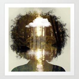 Brain Rain Art Print