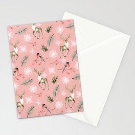 Xmas Pattern Pink #socieyt6 #buyart Stationery Cards
