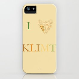 I heart Klimt iPhone Case