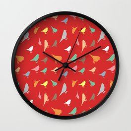 Colorfull birds Wall Clock