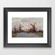 Windmills - Claude Monet Framed Art Print