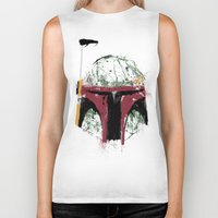 boba Biker Tanks featuring Boba by Purple Cactus