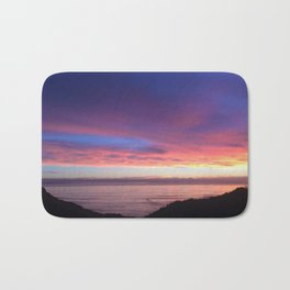 Purple and Pink Summer Beach Sunset Bath Mat