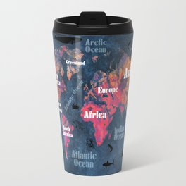 world map 115 #worldmap #map Travel Mug