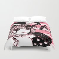 giants Duvet Covers featuring Tiny Giants by Chandelina