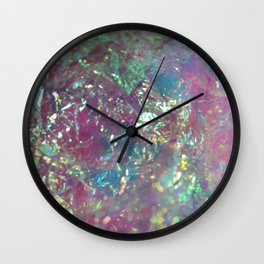 Iridescent Cellophane Wall Clock
