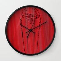 spider man Wall Clocks featuring Spider-Man by Charleighkat