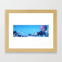 Crash Landing Framed Art Print