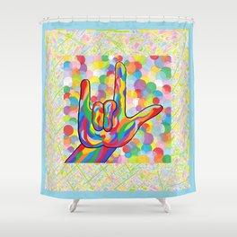ASL I Love You for Baby Boy Nursery Shower Curtain