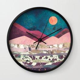 Magenta Mountain Wall Clock
