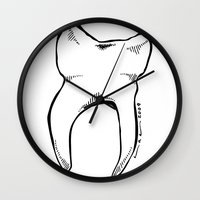 tooth Wall Clocks featuring Tooth by Addison Karl