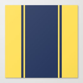 Yellow and Blue Pattern Canvas Print