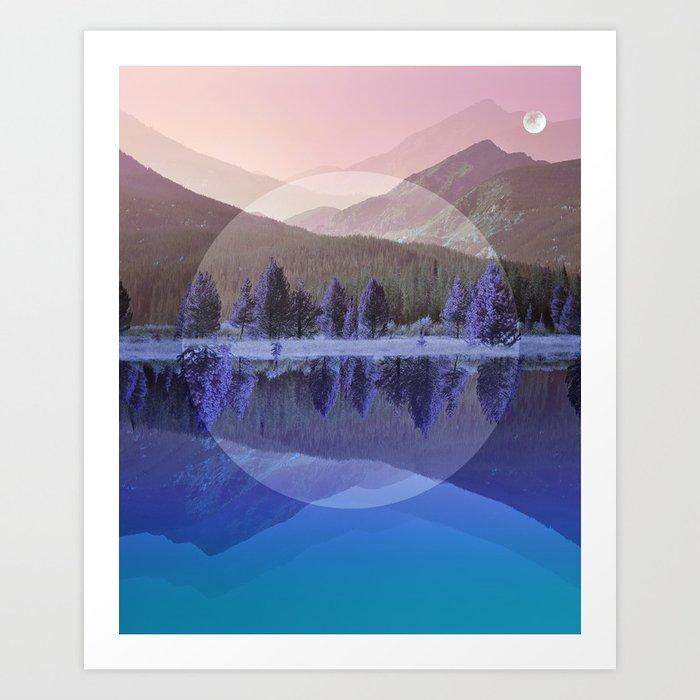 Mountain Mirror #3 Art Print