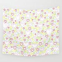 valentine Wall Tapestries featuring Valentine  - JUSTART © by JUSTART