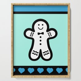 Pastel and Black Gingerbread Man Serving Tray
