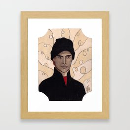 BLACK-CLAD BURGLAR Framed Art Print