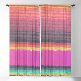 Magenta Sky Serape Sheer Curtain