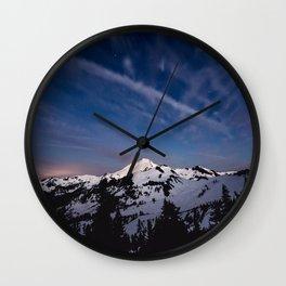 Mount Baker - Nature Photography Wall Clock