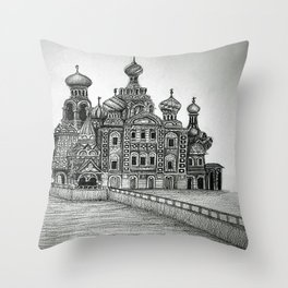 St. Petersburg, Russia Throw Pillow