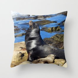 The Grand Pooba Babysits Throw Pillow