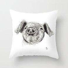Baby Animals - Pig Throw Pillow