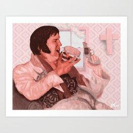 Evening Elvis  Art Print