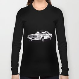 Classic american muscle car icon vector graphic dsign Long Sleeve T-shirt