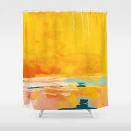 sunny landscape Shower Curtain