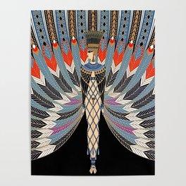 "Art Deco Egyptian Design ""The Nile"" Poster"