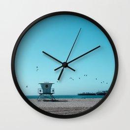 Birds and lifeguard Wall Clock
