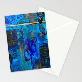 Accidental Love Blue Mixed Media Stationery Cards