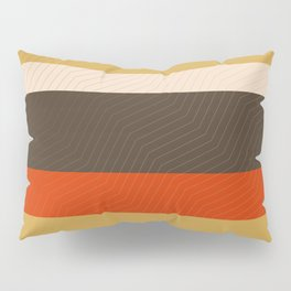 Retro Zigzag Geometric Pattern Pillow Sham