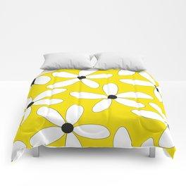 Happy flowers Yellow Comforters