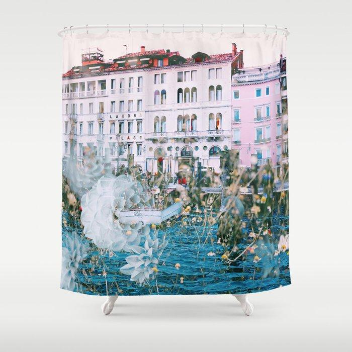 Venice In Dahlia Shower Curtain