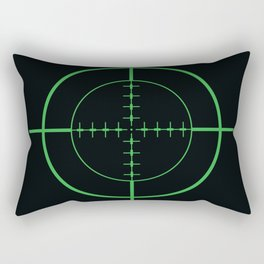 Gun Sight Crosshairs Rectangular Pillow
