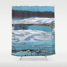 Arctic Aquamarine Shower Curtain