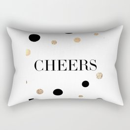 Cheers,Inspirational Quote,Drink Sign,Quote Prints,Wall Art,Bar Decor,Wedding,Celebrate,Typography Rectangular Pillow