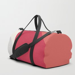 Shades Of Red And Gray Modern Abstract Pattern Duffle Bag