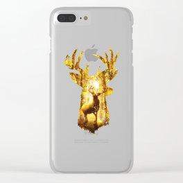 Deer's Woods Clear iPhone Case