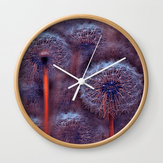 Floral abstract(5). Wall Clock