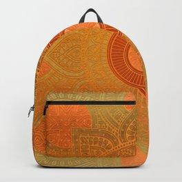 """Savanna Orange-Gold Mandala"" Backpack"