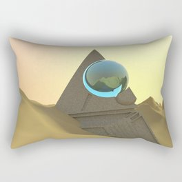 Science Fiction Desert Scene Rectangular Pillow