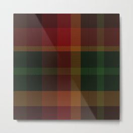 Christmas Plaid 11 Metal Print