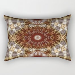 geometry mandala | earth lights Rectangular Pillow